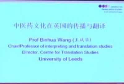 中医药文化在英国的翻译与传播 - 王斌华